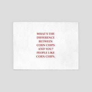 corn chip 5'x7'Area Rug