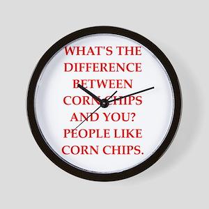 corn chip Wall Clock