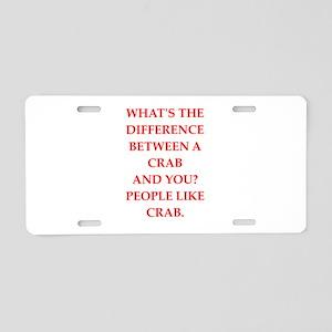 crab Aluminum License Plate