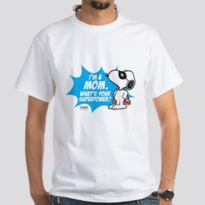 Peanuts Superhero White T-Shirt