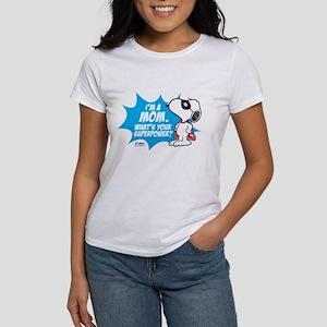 Peanuts Superhero Women's Classic White T-Shirt