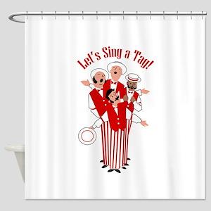 Red Quartet Shower Curtain