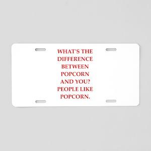 popcorn Aluminum License Plate