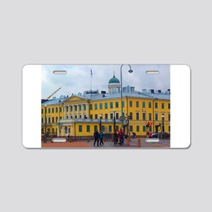 Classical Helsinki Aluminum License Plate