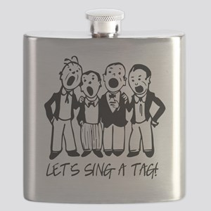 Black and White Quartet Flask