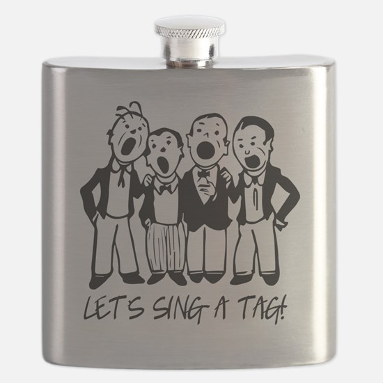 Black and White Quartet Flask