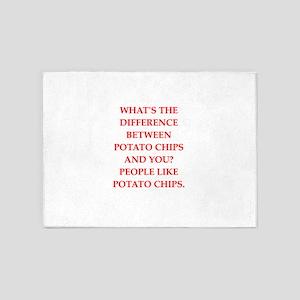 potato chips 5'x7'Area Rug