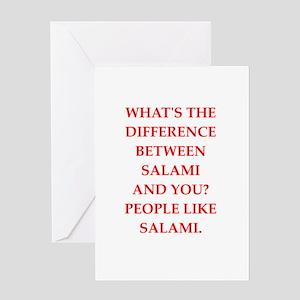 salami Greeting Cards