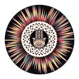 Hamsa Round Car Magnets