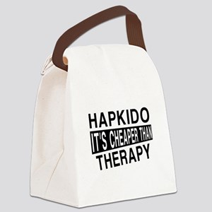 Hapkido It Is Cheaper Than Therap Canvas Lunch Bag
