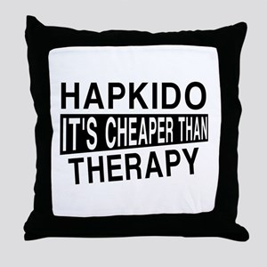 Hapkido It Is Cheaper Than Therapy Throw Pillow