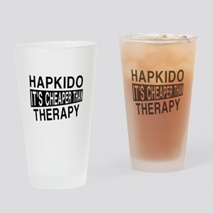 Hapkido It Is Cheaper Than Therapy Drinking Glass