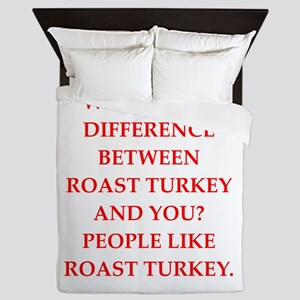 roast turkey Queen Duvet