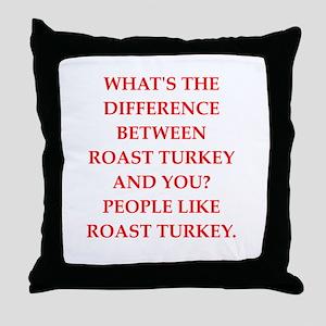 roast turkey Throw Pillow