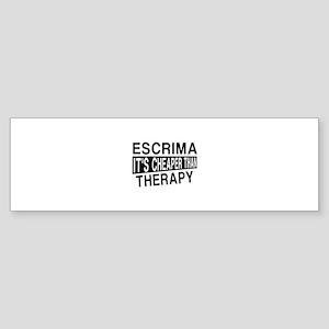 Escrima It Is Cheaper Than Therap Sticker (Bumper)