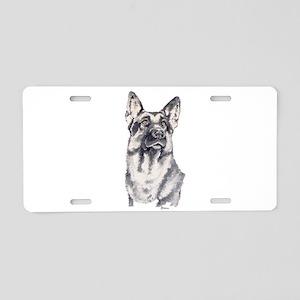 German Shepherd Aluminum License Plate