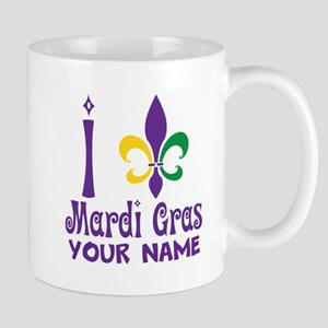 Personalized Mardi Gras gift Mugs