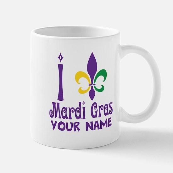 Personalized Mardi Gras gift Mugs
