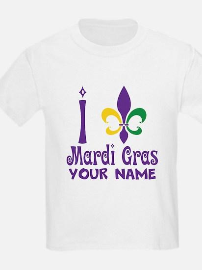Personalized Mardi Gras gift T-Shirt