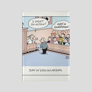 Jury of English Major Cartoon Rectangle Magnet