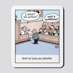 Jury of English Major Cartoon Mousepad