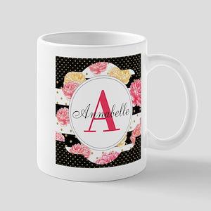 Custom Text Floral Mug