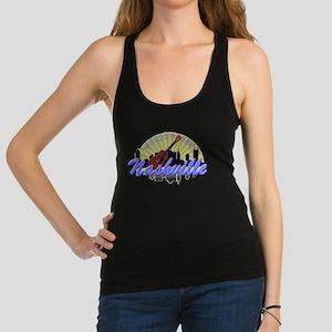 Nashville Music City Sunburst-01 Racerback Tank To