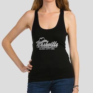 Nashville Music City-BLK Racerback Tank Top
