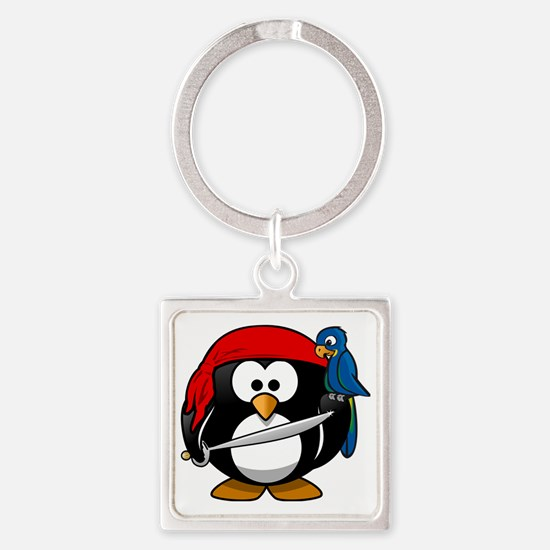 Tux penguin Square Keychain