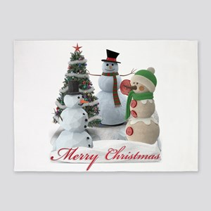 SnowPals Merry Christmas 5'x7'Area Rug