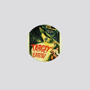 Vintage poster - Target Earth Mini Button