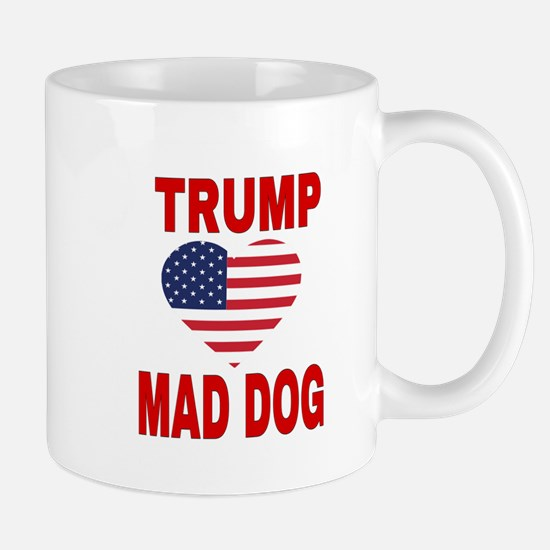 TRUMP LOVES MAD DOG Mugs