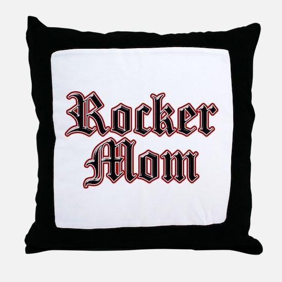 Rocker Mom Throw Pillow