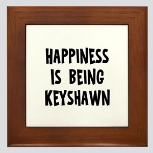 Happiness is being Keyshawn Framed Tile