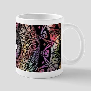 Dark Radiant Om Mandala Mugs
