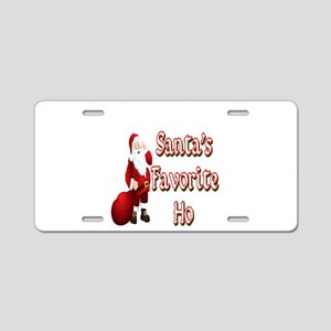 Santa's Favorite Ho Aluminum License Plate
