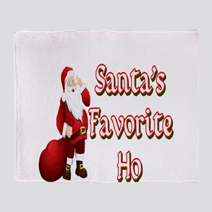Santa's Favorite Ho Throw Blanket