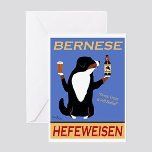 Bernese Hefeweisen Greeting Card