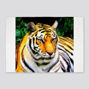 Oakland Zoo Tiger 5'x7'Area Rug