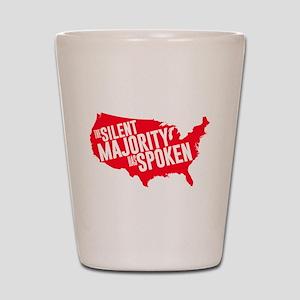The Silent Majority Has Spoken Red Shot Glass