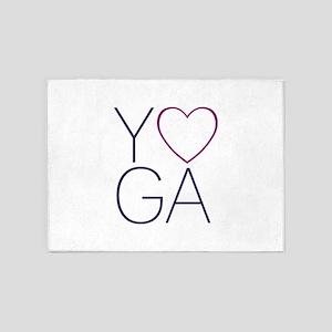 yoga heart 5'x7'Area Rug