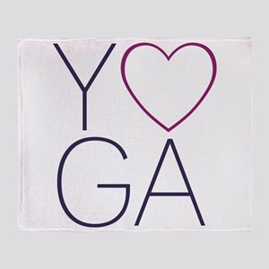 yoga heart Throw Blanket