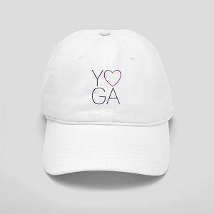 yoga heart Baseball Cap
