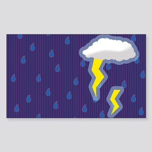 Stormy Rectangle Sticker