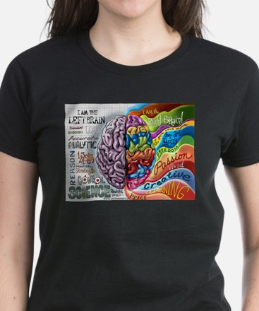 Left Brain Right Brain Cartoon Poster T-Shirt