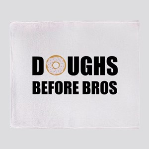 Doughs Before Bros Throw Blanket