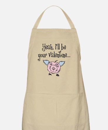 Pigs Fly Valentine BBQ Apron