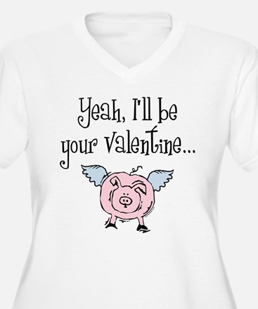 Pigs Fly Valentine T-Shirt