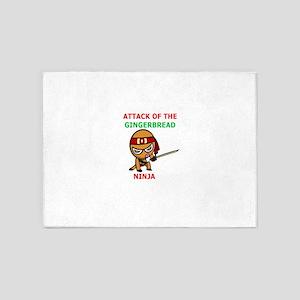 Ginger Ninja 5'x7'Area Rug