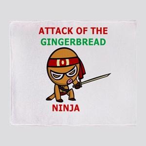 Ginger Ninja Throw Blanket